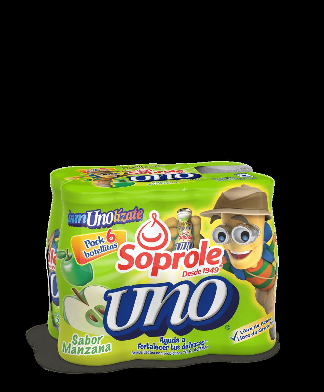 Soprole uno sabor manzana pack 6