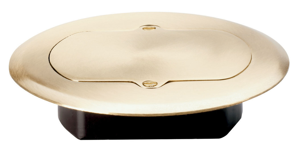 pass & seymour® tamper-resistant floor box brass cover, tm1542trfm