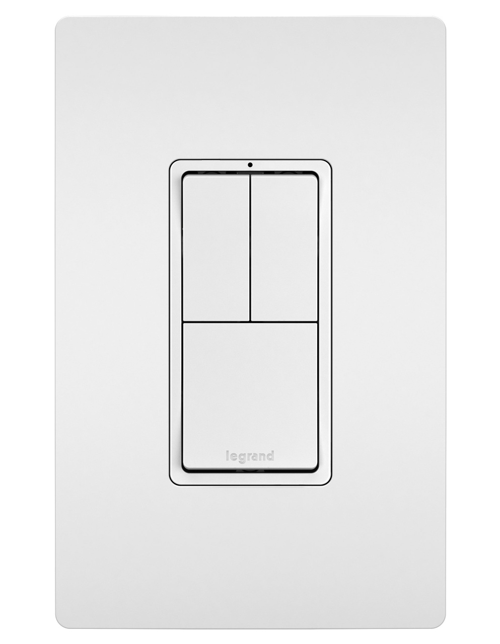 radiant® rcd11w combo switch white legrand two single pole switches single pole 3 way switch white