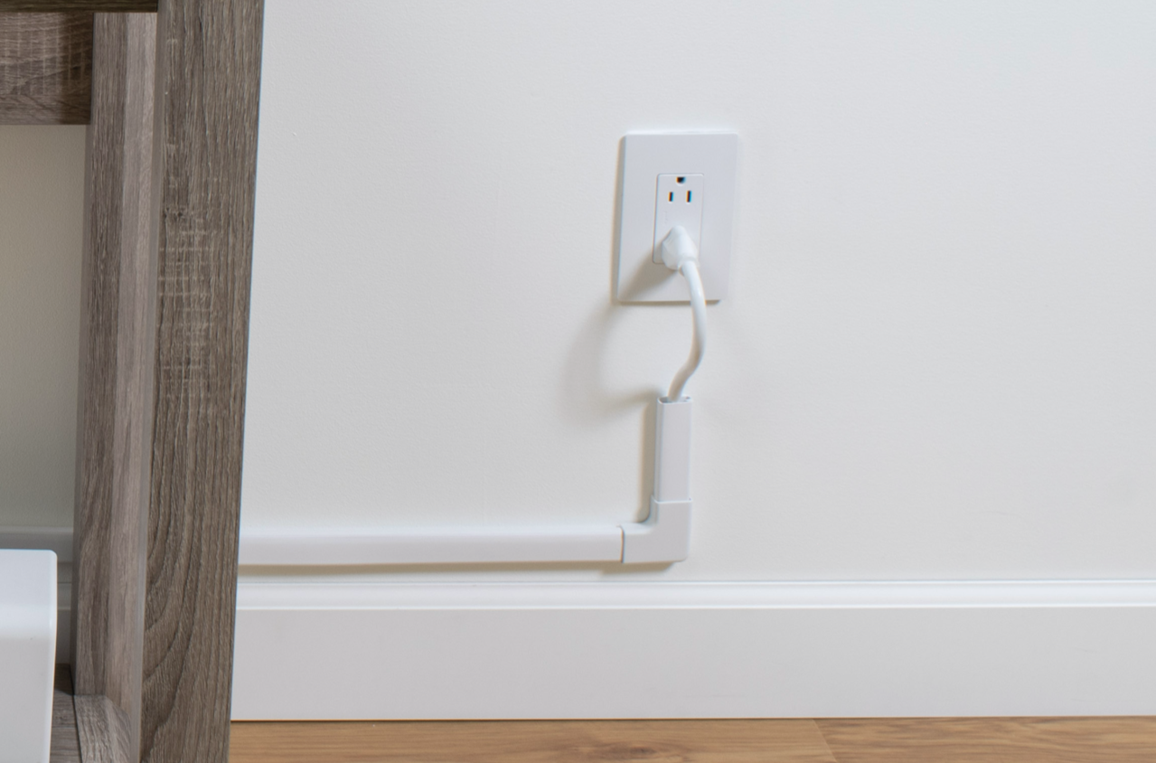 outlet with cable cover