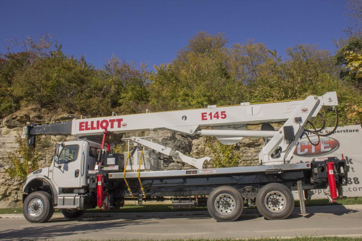 Elliott E145 E-Line Aerial Device on 2016 Freightliner M2106 6x6