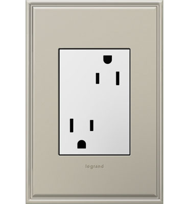 adorne White 1-Gang+ Outlet