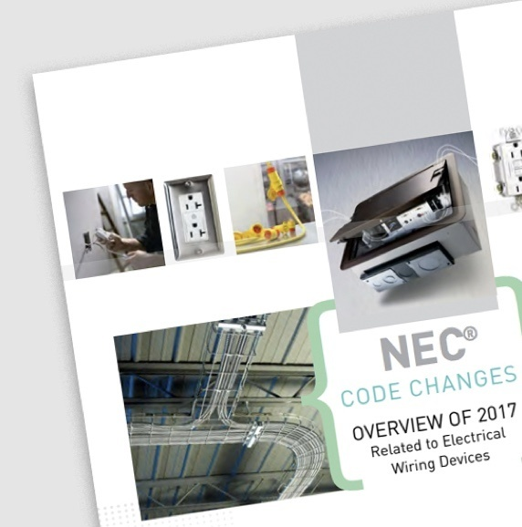 Page of 2017 NEC Code Changes overview resource