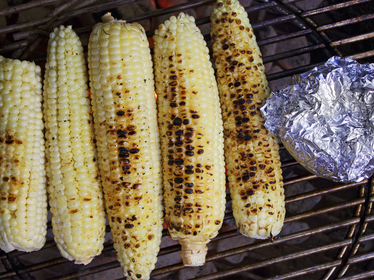 Grill your corn, either in the husk or without.