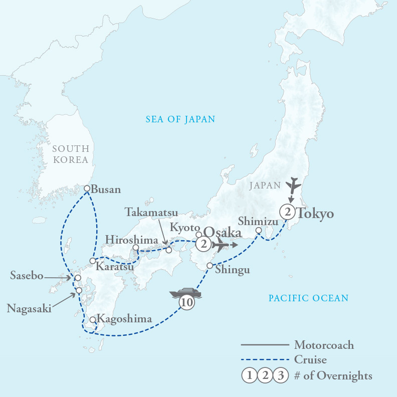 Tour Map for Grand Japan