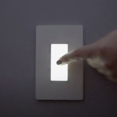 Finger tapping in-wall night light