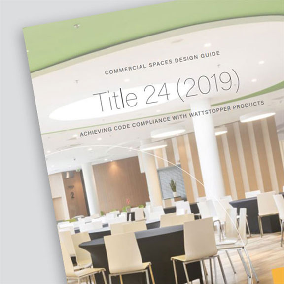 Front page of the Title 24 2019 Design Guide from Wattstopper over a grey background