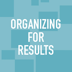 Organizing for results icon