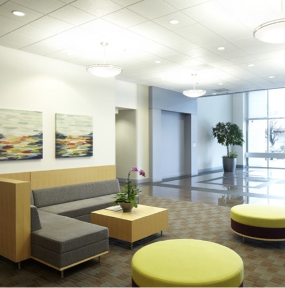 Interior of commercial office building