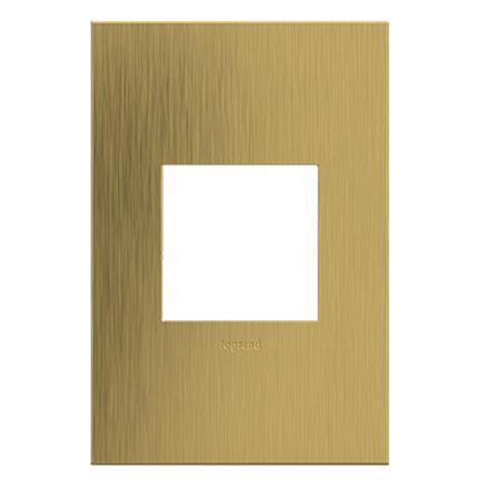 adorne satin brass wall plate
