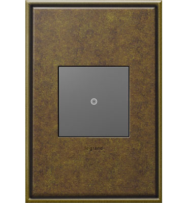 adorne 1-Gang Aged Brass Wall Plate