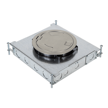 RFB6E Six Compartment Single- or Multi-Service Recessed Floor Box