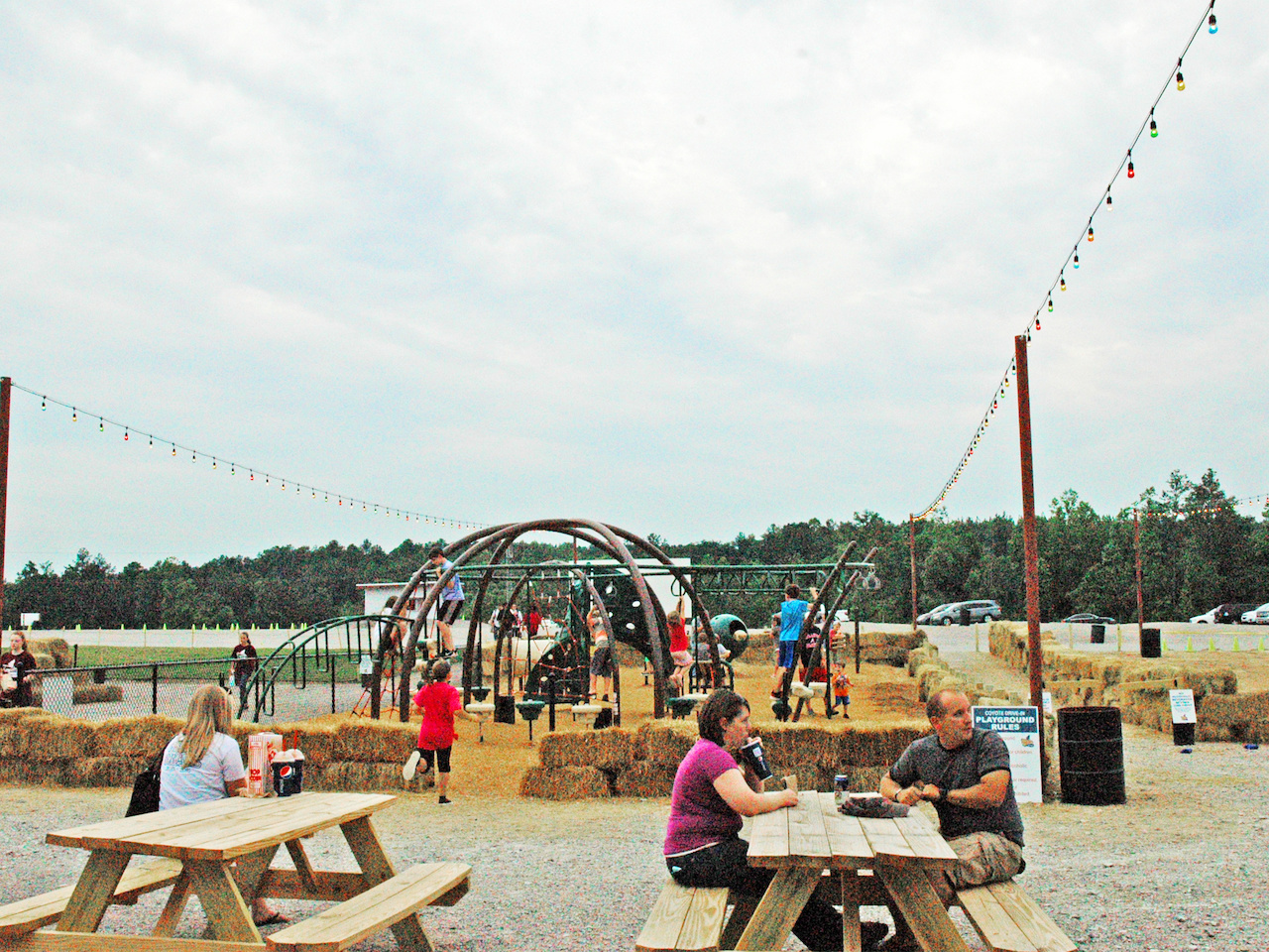 In addition to the canteen, the drive-in includes a picnic area and kids' play area.