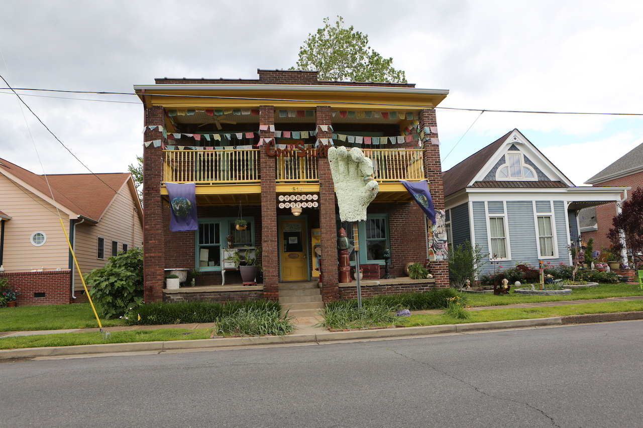 This is a conversation-worthy home in Paducah's Lowertown Arts District.