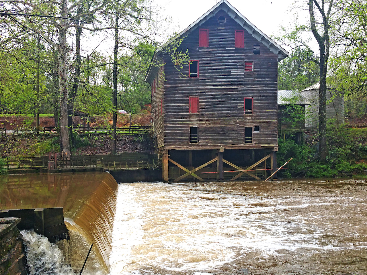 The Kymulga Grist Mill is part of this scenic enclave and was in operation until recently.