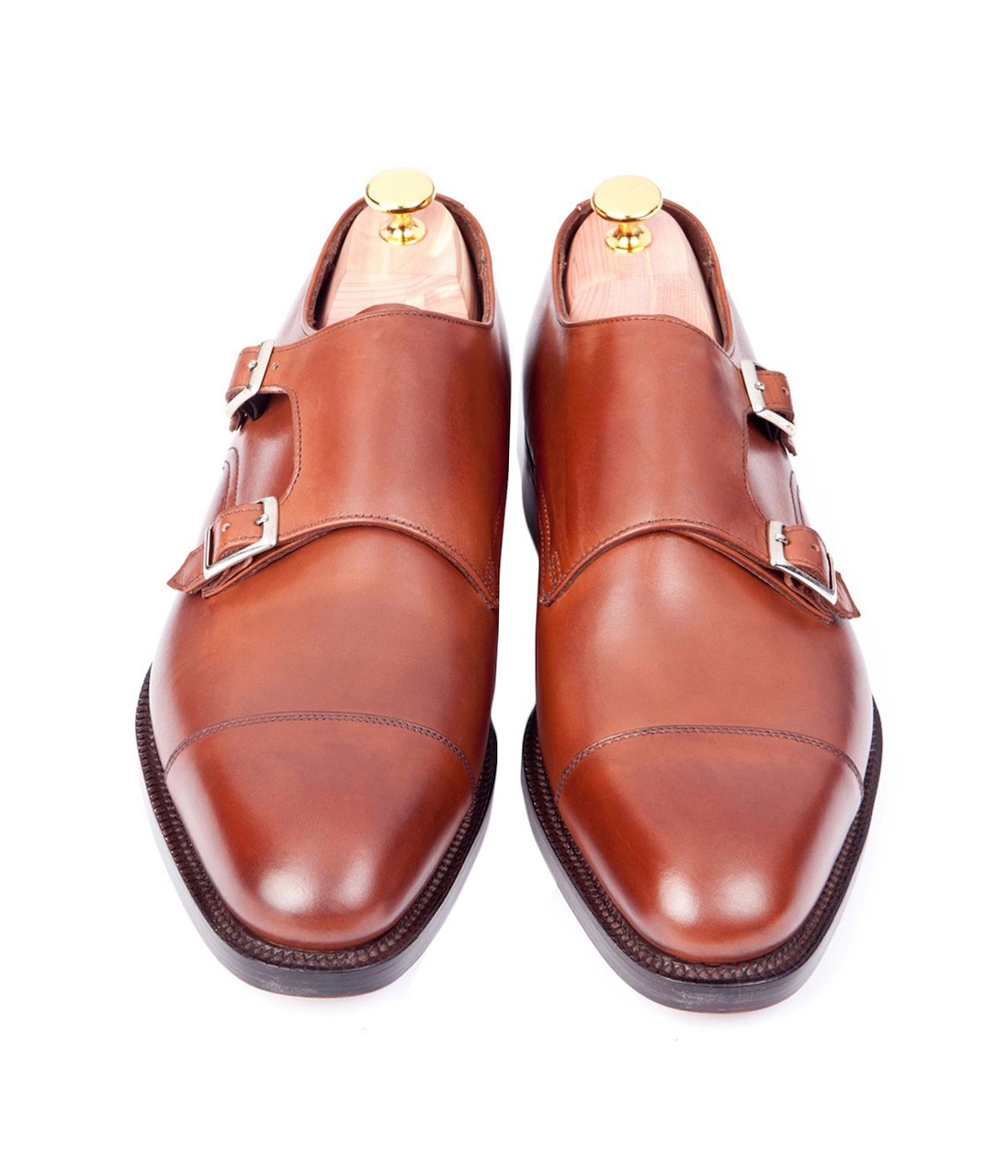 sid mashburn autumn brown calfskin double monks