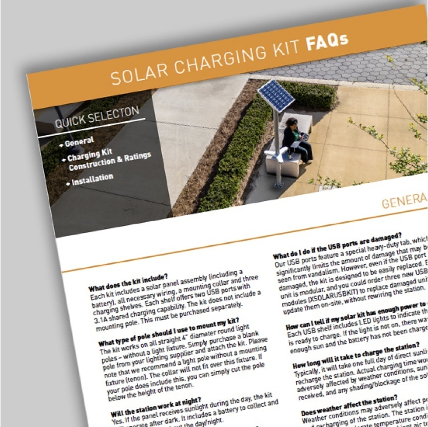 Image of Solar Charging Kit FAQs
