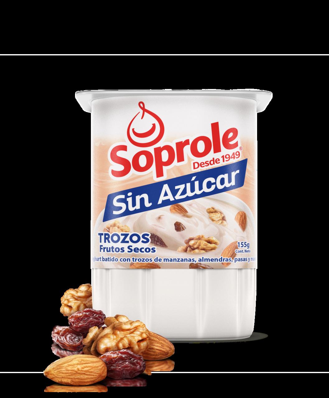 Soprole Sin Azúcar Yoghurt trozos frutos secos