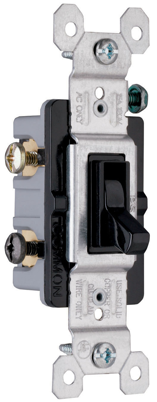 TradeMaster Grounding Toggle Switch, Black, 663BKG