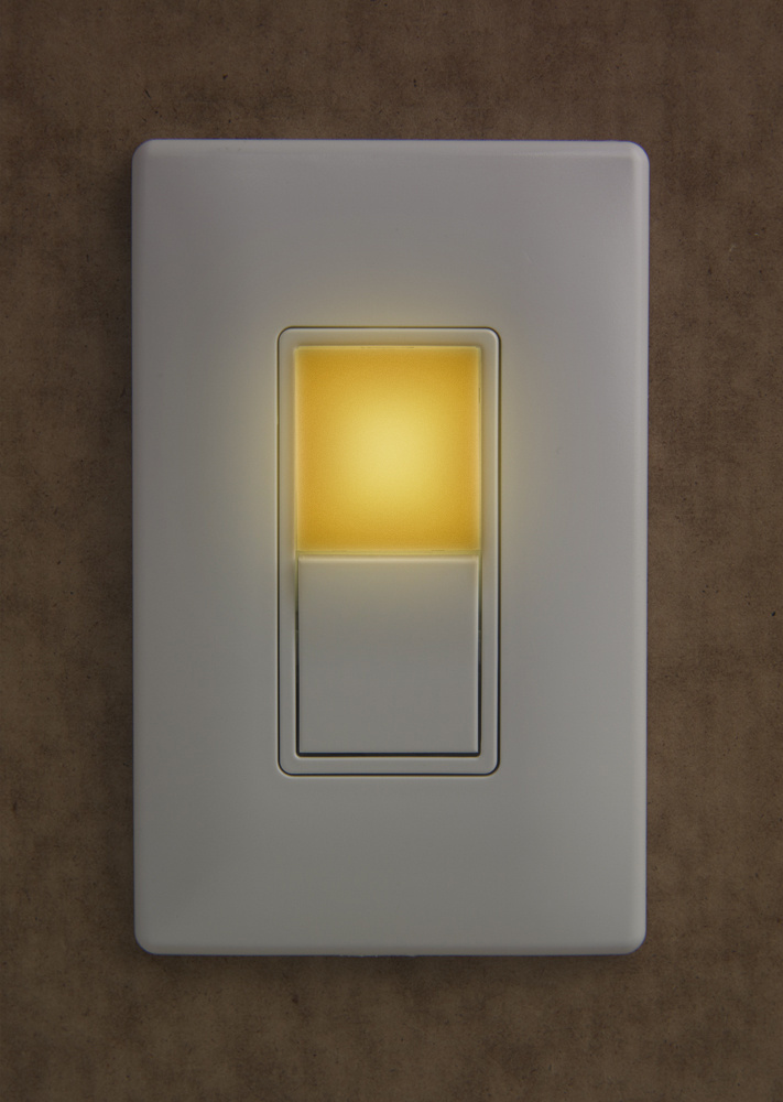 Amber night light w single pole3 way switch ntl873amberw legrand ntl873clearamber mozeypictures Gallery