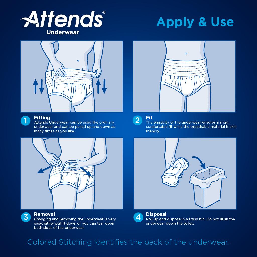 Attends Underwear Extra Absorbency