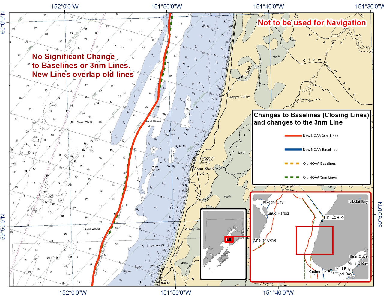 Chart for the Area Between Ninilchik and Kachemak Bay