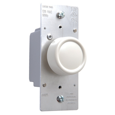 Rotary R Series 600W Incandescent RFI Dimmers Light Almond