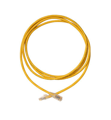 Modular patch cord, Cat 6, four-pair, AWG stranded, PVC, yellow, sold in packages of 10.