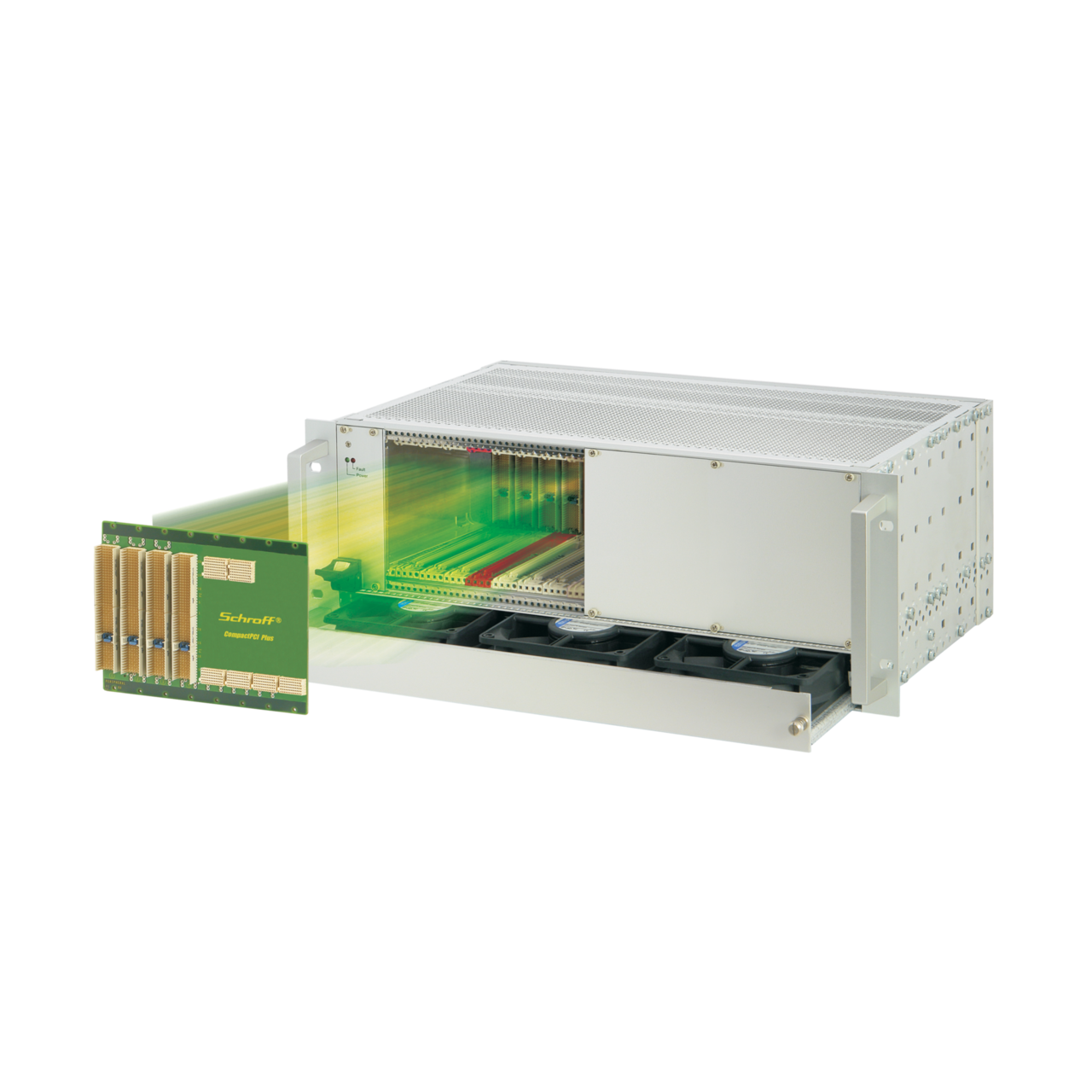 Image for CompactPCI PlusIO 4 U, 8 slot, with rear I/O, with 19