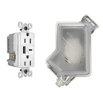Weather Resistant USB Outlet and Cover