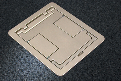 Two Compartment Single Or Multi Service Recessed Floor