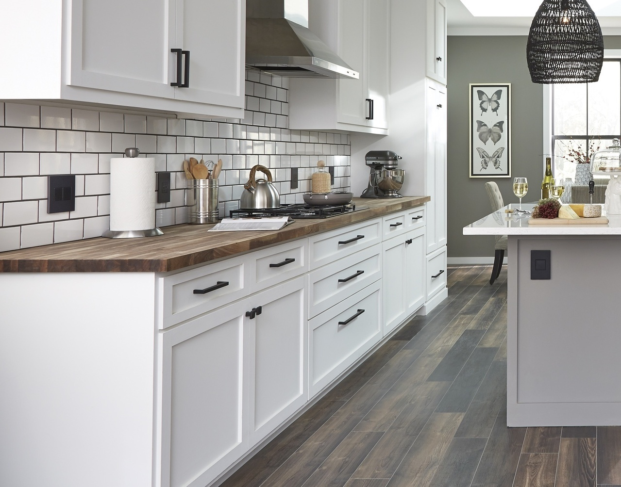 Newly renovated kitchen with designer switches and outlets from the radiant and adorne Collections by Legrand