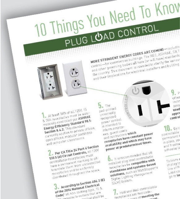 10 Things you need to know about Plug Load Control - White Paper
