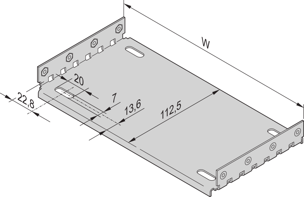 Imagen para Mounting plate in combination with cover plate de Schroff - Norteamérica