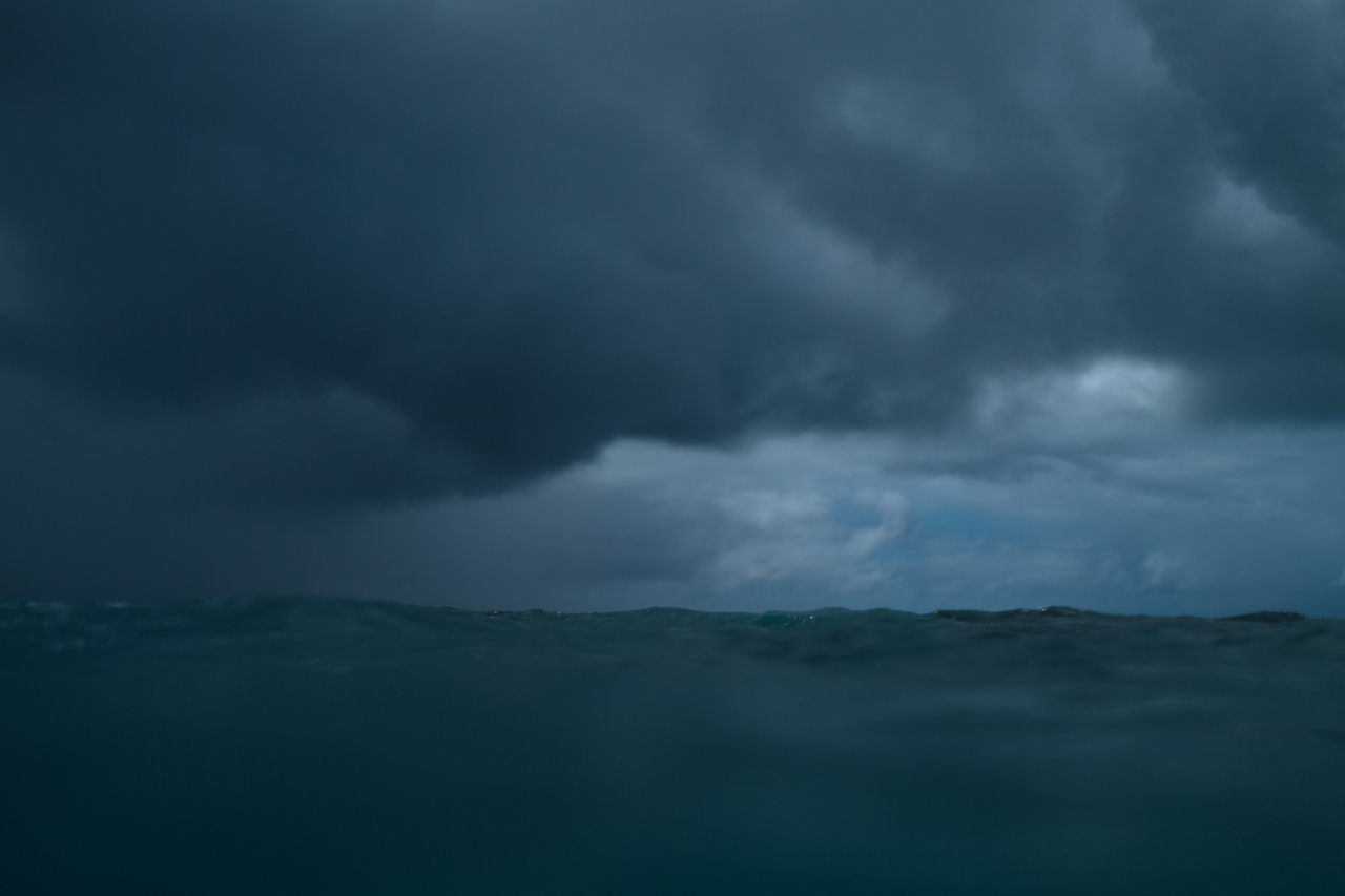 Stormy seas and skies at Pearl and Hermes Atoll