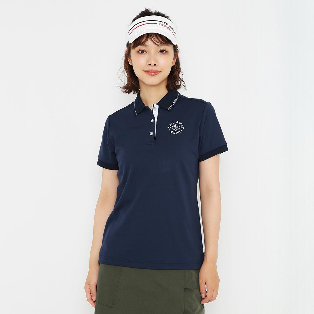 CALLAWAY 汗染み抑制カノコ半袖ポロシャツ (WOMENS)