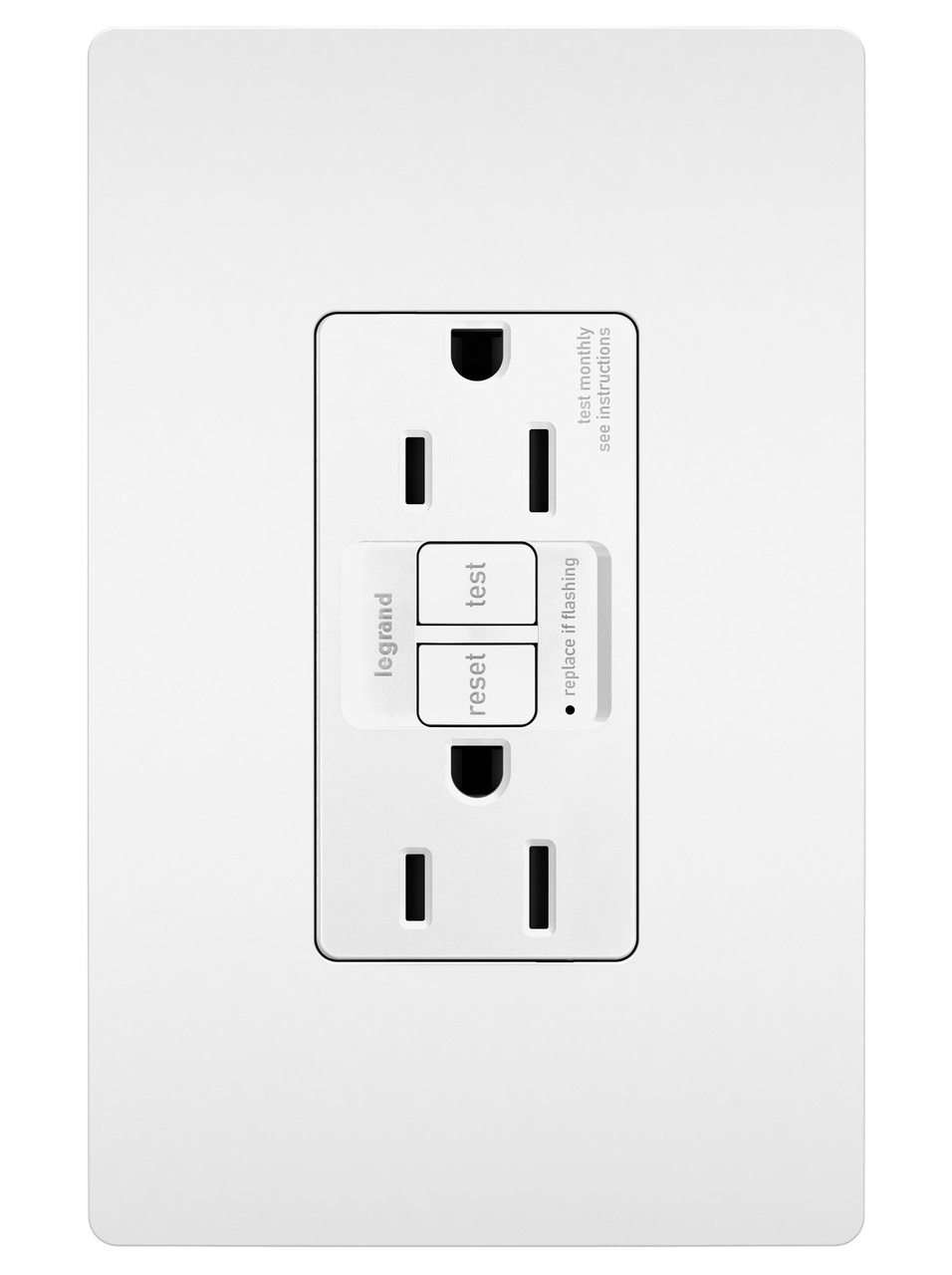 Outlets By Legrand 15 Amp Gfci On 20 Circuit Spec Grade Tamper Resistant 15a Self Test Duplex White