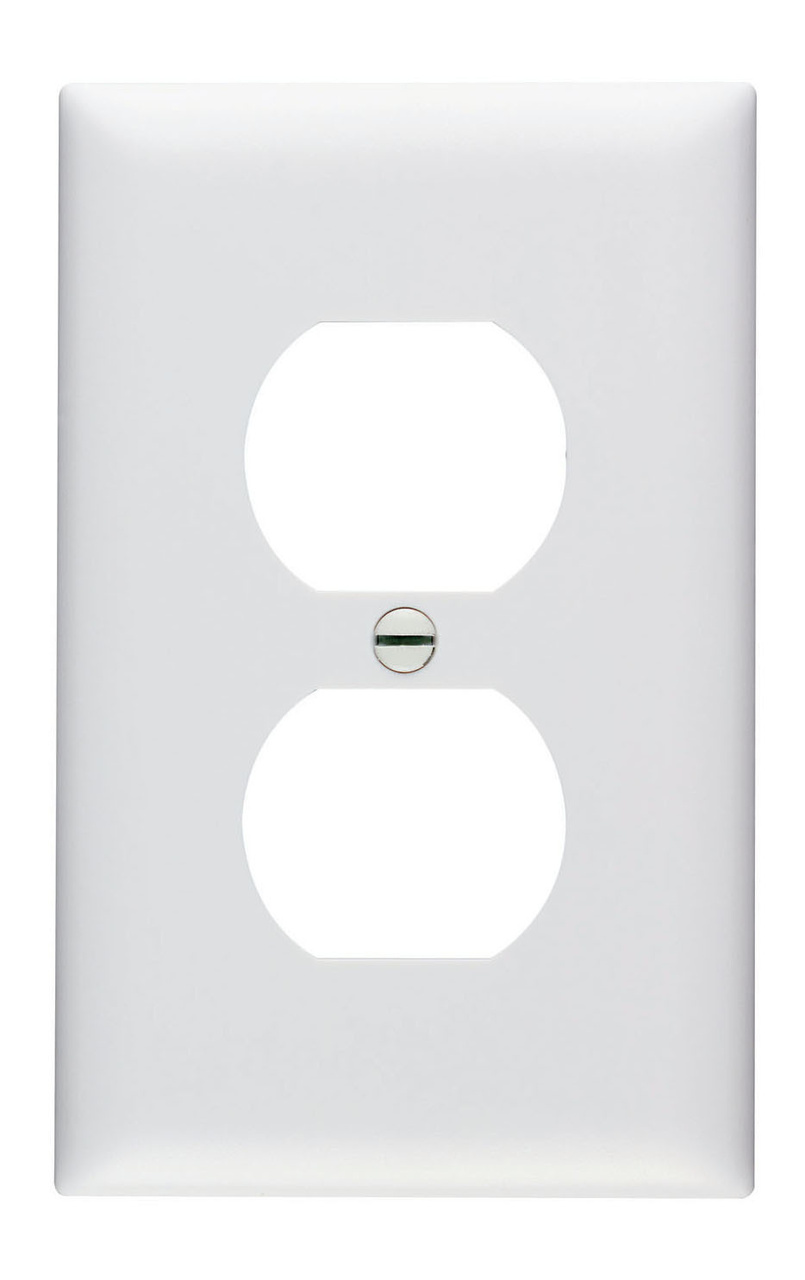 Duplex Receptacle Openings, One Gang, White, 100-Count Bulk Package