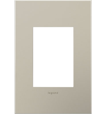 adorne 1-Gang+ Satin Nickel Wall Plate