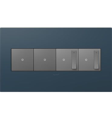 adorne 4-Gang Felt Green Wall Plate