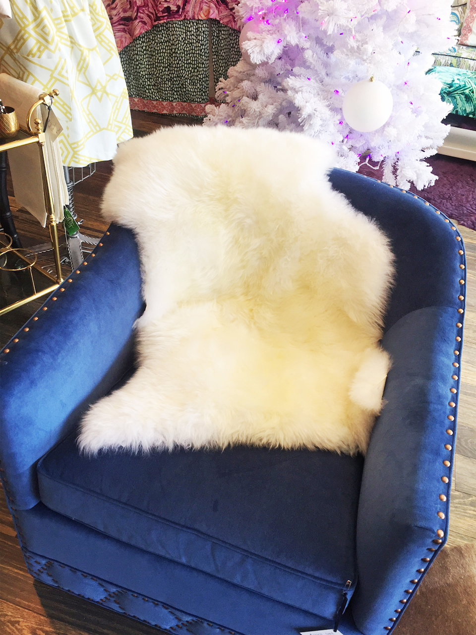 Australian sheepskin throw, $150, at Cotton + Quill