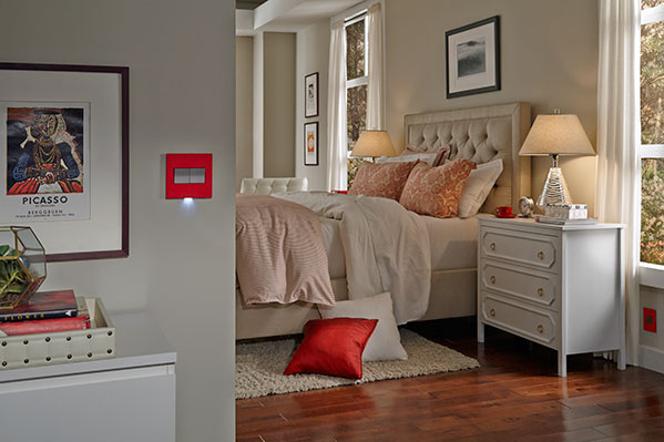 adorne Cherry Wall Plate with Nightlight in bedroom