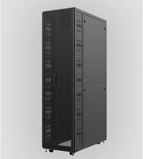 black data center cabinet