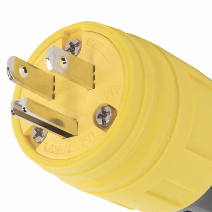 Yellow Turnlok plug