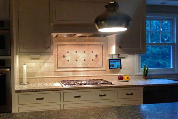 iPad kitchen stand - An under cabinet tablet mount from the adorne ...