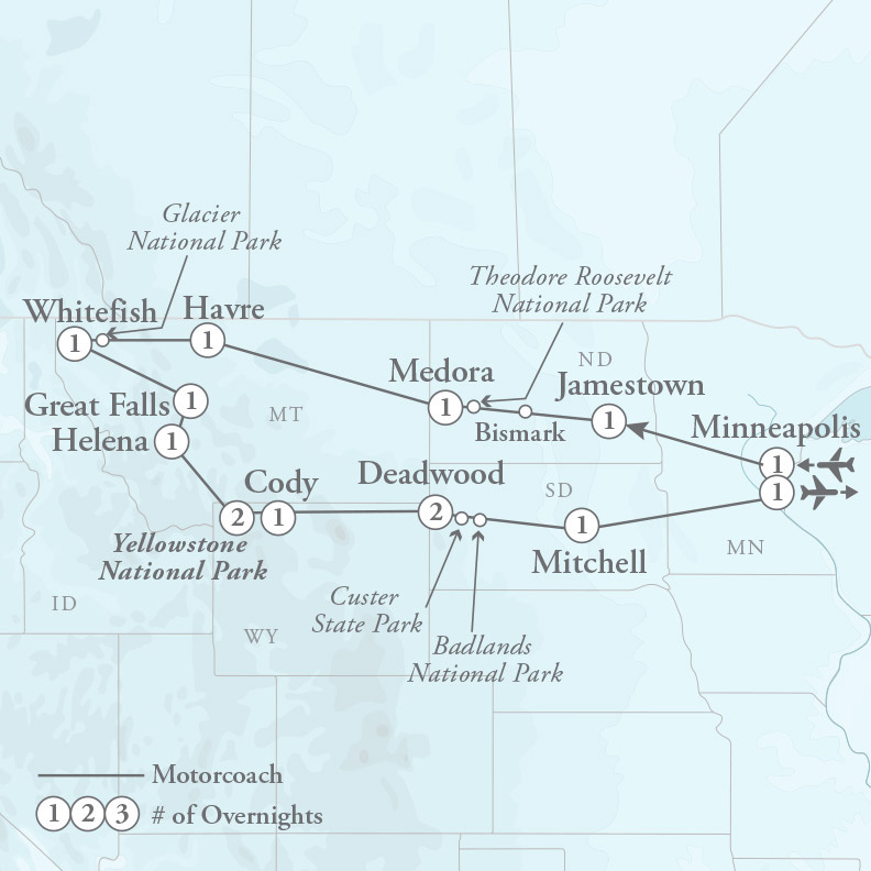 Tour Map for Majestic Parks