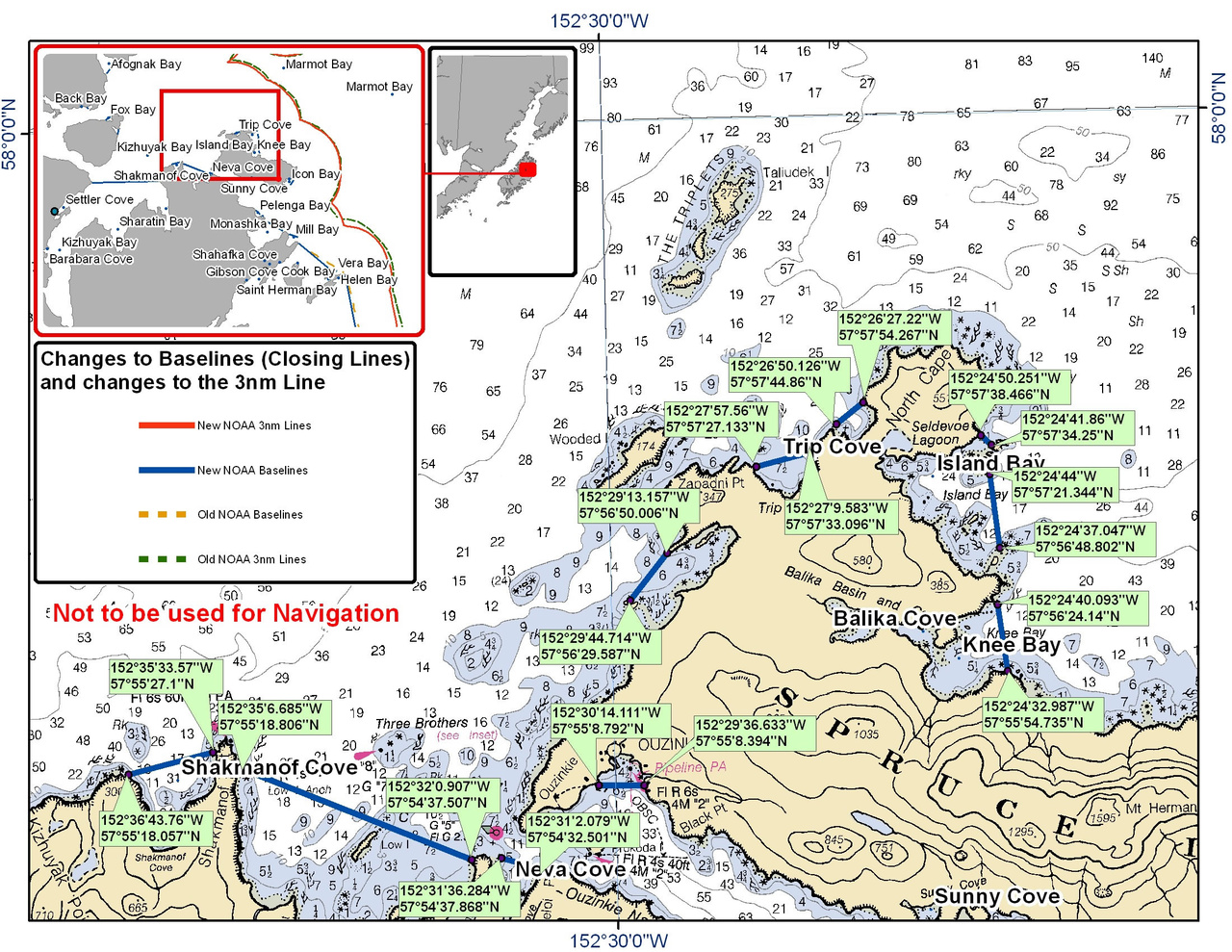 Chart for Northern Spruce Island and Shakmanof Cove