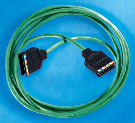 Clarity 6 110/110 Patch Cord, Category 6, 3', Green