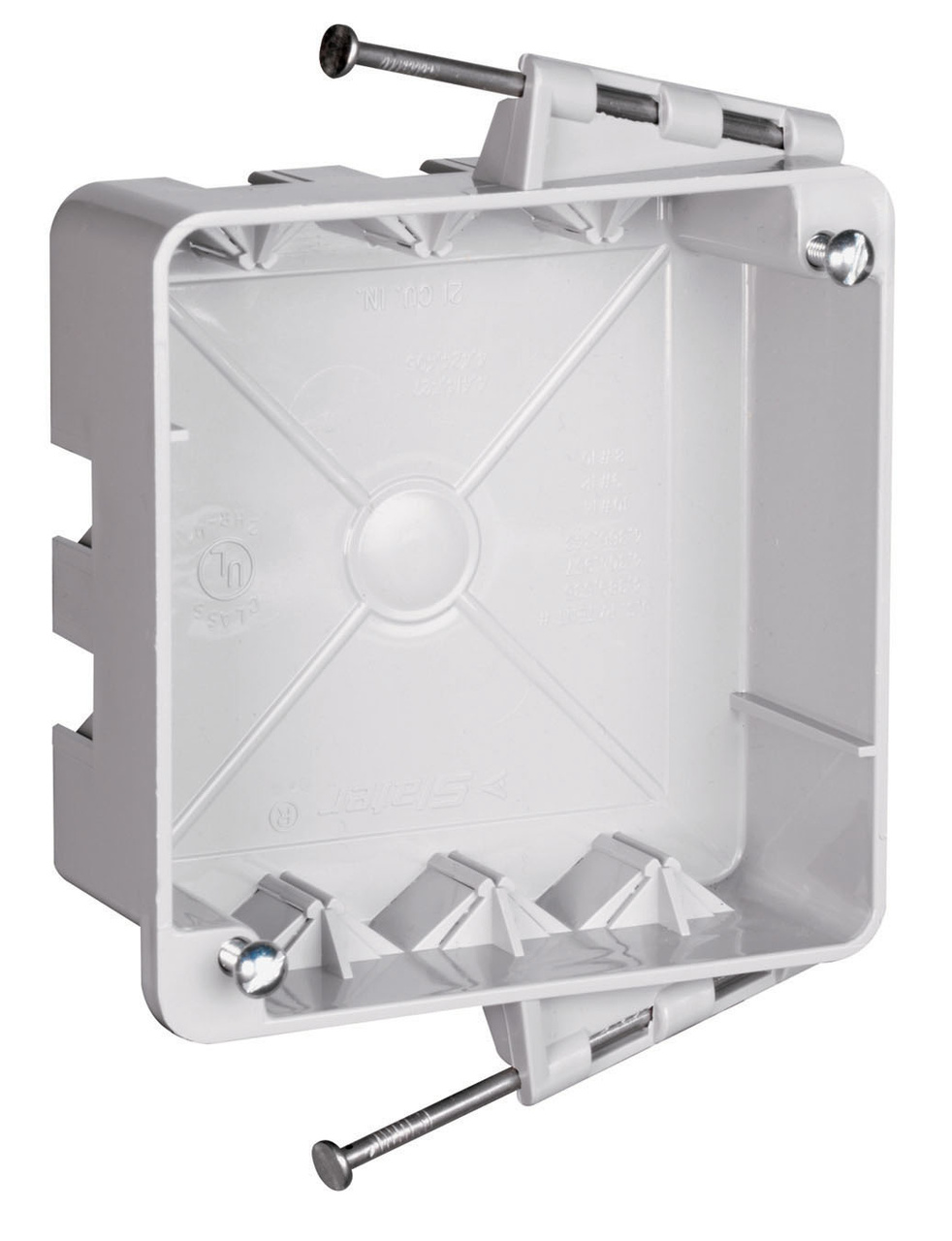 "4"" Square Box with Threaded Mounting Holes, S4421RAC"