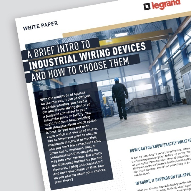 "Page of document with title ""A Brief Intro to Industrial Wiring Devices and How to Choose Them"""